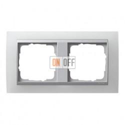Рамка двойная Gira Event Opaque матово-белый/алюминий 021250