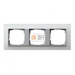 Рамка тройная Gira Event Opaque матово-белый/алюминий 021350