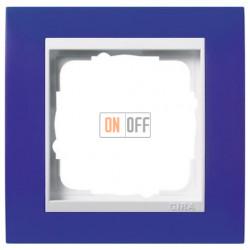 Рамка одинарная Gira Event Opaque матово-синий/бел. глянец 0211399