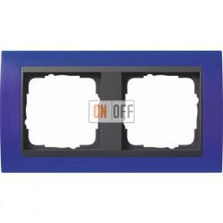 Рамка двойная Gira Event Opaque матово-синий/антрацит 021289