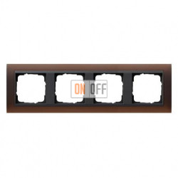 Рамка четверная Gira Event Opaque матово-коричневый/антрацит 021413
