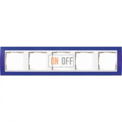Рамка пятерная Gira Event Opaque матово-синий/бел. глянец 0215399