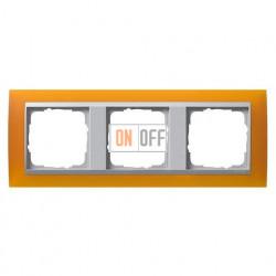 Рамка тройная Gira Event Opaque матово-янтарный/алюминий 021369