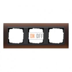 Рамка тройная Gira Event Opaque матово-коричневый/антрацит 021313
