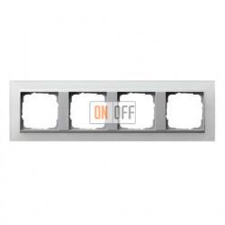 Рамка четверная Gira Event Opaque матово-белый/алюминий 021450