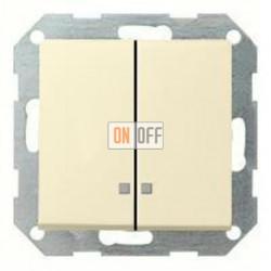 Выключатель двухклавишный с подсветкой, 10 А / 250 В~ 014500 - 063101