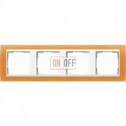 Рамка четверная Gira Event Opaque  матово-оранжевый/бел. Глянец 0214397