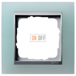 Рамка одинарная Gira Event Opaque салатовый/алюминий 021151