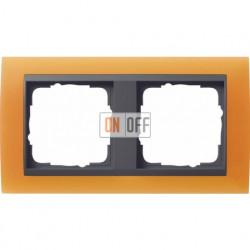 Рамка двойная Gira Event Opaque матово-оранжевый/антрацит 021287