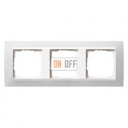 Рамка тройная Gira Event Opaque матово-белый/глянц.белый 0213334