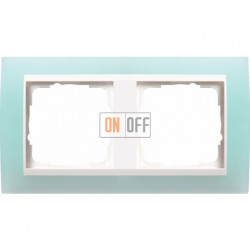 Рамка двойная Gira Event Opaque салатовый/белый глянец 0212395