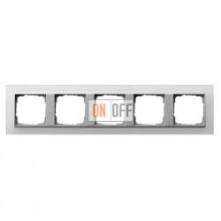 Рамка пятерная Gira Event Opaque матово-белый/алюминий 021550