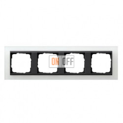 Рамка четверная Gira Event Opaque матово-белый/антрацит 021424