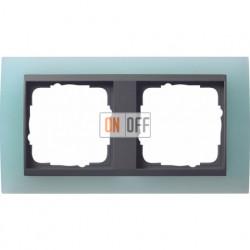 Рамка двойная Gira Event Opaque салатовый/антрацит 021285