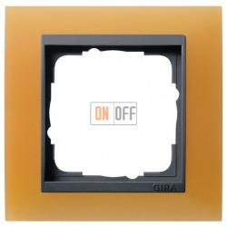 Рамка одинарная Gira Event Opaque матово-оранжевый/антрацит 021187