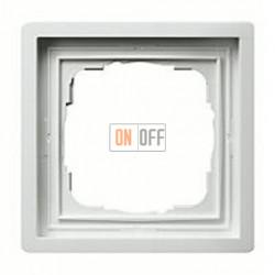 Рамка одинарная Gira F100 белый глянцевый 0211112