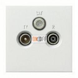 Розетка телевизионная оконечная TV SAT FM, диапазон частот от 4 до 2400 MГц 093700 - 0869112