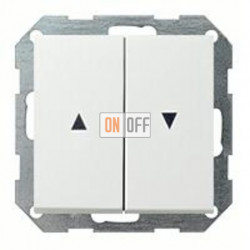 Выключатель управления жалюзи клавишный, 10 А / 250 В~ 015900 - 0294112