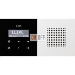 Радиоприемник скрытого монтажа с RDS с динамиком (белый глянец) 2280112