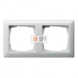 Рамка двойная, для гориз./вертик. монтажа Gira Standart 55 белый глянцевый 021203