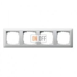 Рамка четверная, для гориз./вертик. монтажа Gira Standart 55 белый глянцевый 021403