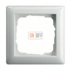 Рамка одинарная Gira Standart 55 белый глянцевый 021103