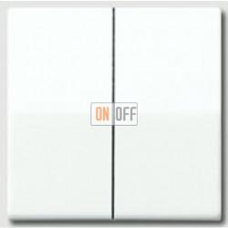 Выключатель двухклавишный, проходной (вкл/выкл с 2-х мест) 10 А / 250 В~ as591-5ww - 509u