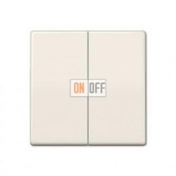 Выключатель двухклавишный, проходной (вкл/выкл с 2-х мест) 10 А / 250 В~ 509u - AS591-5