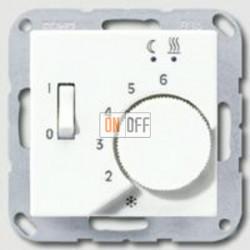Термостат 230 В~ 10А с выносным датчиком для электрического подогрева пола механизм FTR231U - aftr231plww