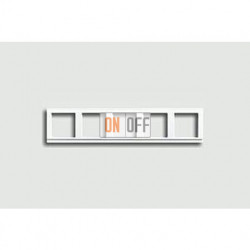 Рамка пятерная, для горизон./вертик. монтажа Jung A 500, белый глянцевый a585ww