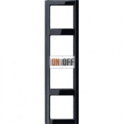 Рамка четверная Jung A 500, черный глянцевый A584SW