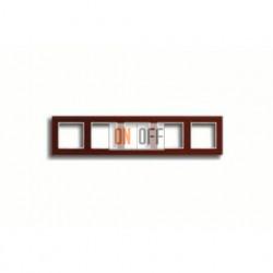 Рамка пятерная, для горизон./вертик. монтажа Jung A Creation, стекло красное глянцевое ac585glrt
