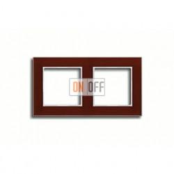 Рамка двойная, для горизон./вертик. монтажа Jung A Creation, стекло красное глянцевое ac582glrt