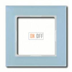Рамка одинарная Jung A Creation, стекло серо-голубое AC581GLBLGR