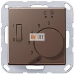 Термостат 230 В~ 10А с выносным датчиком для электрического подогрева пола механизм, Мокко FTR231U - AFTR231PLMO