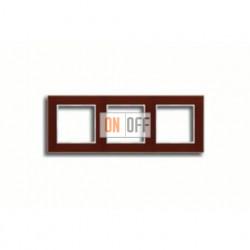 Рамка тройная, для горизон./вертик. монтажа Jung A Creation, стекло красное глянцевое ac583glrt