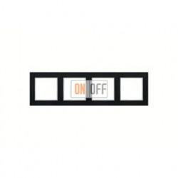 Рамка четверная, для горизон./вертик. монтажа Jung A Creation, черный глянцевый AC584SW
