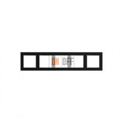 Рамка пятерная, для горизон./вертик. монтажа Jung A Creation, черный глянцевый AC585SW