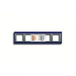 Рамка пятерная, для горизон./вертик. монтажа Jung A Plus, синий-алюминий AP585BLAL