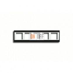 Рамка пятерная, для горизон./вертик. монтажа Jung A Plus, антрацит-белый AP585ANTWW