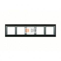 Рамка пятерная, для горизон./вертик. монтажа Jung A Plus, хром-алюминий AP585GCRAL
