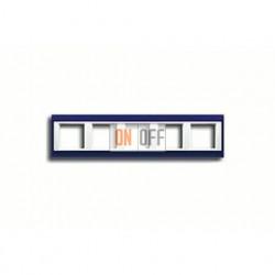 Рамка пятерная, для горизон./вертик. монтажа Jung A Plus, синий-белый AP585BLWW