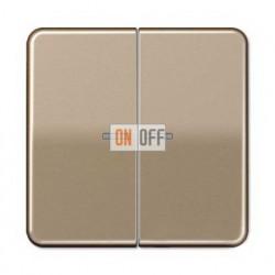 Выключатель двухклавишный с подсветкой, 10 А / 250 В~ 505u5 - CD595KO5GB