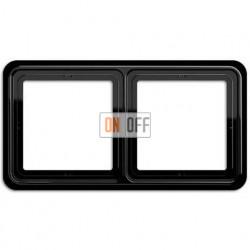 Рамка двойная, горизонтальная/вертикальная, Jung CD 500, черный CD582SW