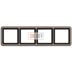 Рамка четверная, горизонтальная/вертикальная, Jung CD 500, светлая бронза CD584GB