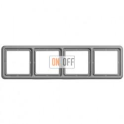 Рамка четверная, горизонтальная/вертикальная, Jung CD 500, серый CD584GR
