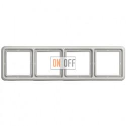 Рамка четверная, горизонтальная/вертикальная, Jung CD 500, светло серый CD584LG