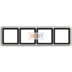 Рамка четверная, горизонтальная/вертикальная, Jung CD 500, платина CD584PT