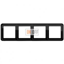 Рамка четверная, горизонтальная/вертикальная, Jung CD 500, черный CD584SW