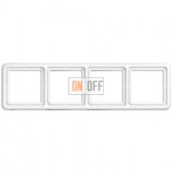 Рамка четверная, горизонтальная/вертикальная Jung CD 500, белый CD584WW